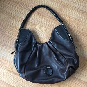 Ferragamo Brown Leather Hobo Shoulder Bag
